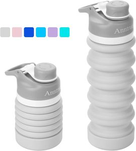 8. Anntrue Collapsible Water Bottle, 18oz