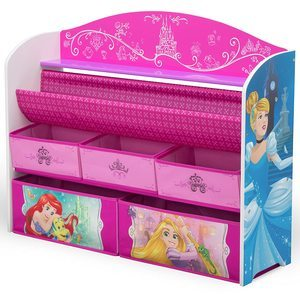 8. Delta Children Deluxe Book & Toy Organizer