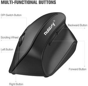 8. Nulaxy 2.4G Wireless Vertical Ergonomic Mouse