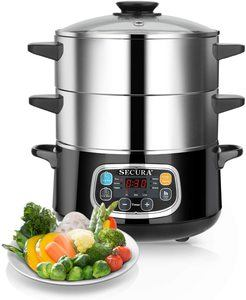 8. Secura Electric Food Steamer, 8.5 Quart