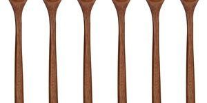 9. ADLORYEA Eco-Friendly Table Spoon, 6 Pieces