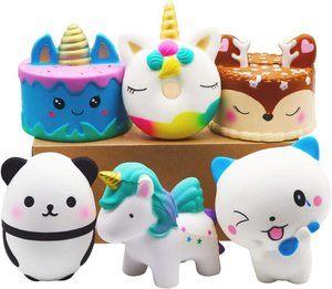 1. YOAUSHY Squishies Toy Jumbo, 6 Pcs