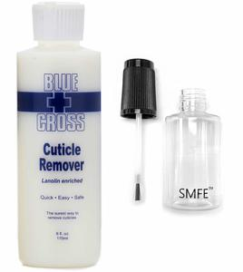 10. Blue Cross Cuticle Remover and SMFE Empty Applicator Bottle