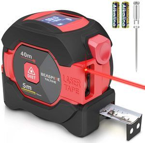 10. Laser Digital Tape Measure 2-in-1