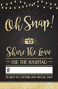 3. Photo Booth International Wedding Hashtag Sign