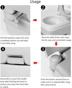 3. Portable Toilet for Camping Traveling, 5.2 gallons