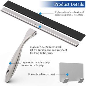 4. Stainless Steel Shower Squeegee -14 Inches