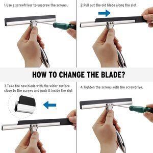 5. AmazerBath Stainless Steel 10 Inch Blade Shower Squeegee