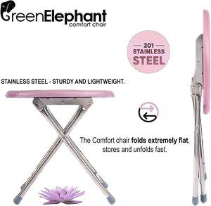 5. Green Elephant Yoni Steam Seat, Folding Lightweight