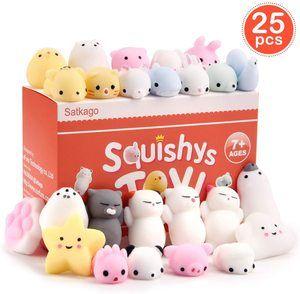 5. Satkago Mini Mochi Squishies Toys, 25 Pcs