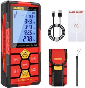 6. POPOMAN Rechargeable Laser Measure -196 feet