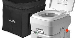 7. Alpcour Portable Toilet – Compact Indoor & Outdoor Commode