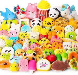 7. WATINC Random Squishies for Kids, 70 Pcs