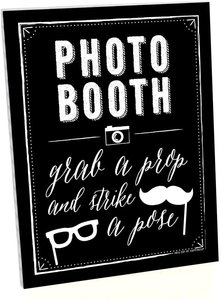 9. Big Dot of Happiness Photo Booth Sign