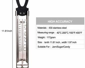 9. Candy Thermometer Deep Fry Thermometer with Hanging Hook