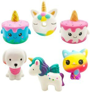 9. Yonishy Unicorn Squishies Toy Set (6 Packs)