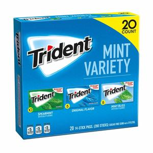 #10.  Trident Sugar-Free Gum without aspartame