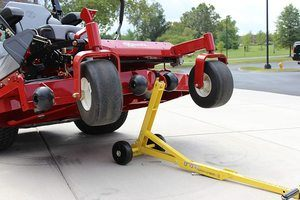 #8. Jungle Jim's Mower Lift with Big Tires