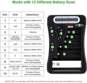 #8. Tenergy Battery Tester