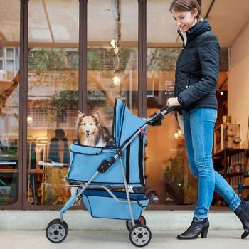 1. Dog Stroller Pet Stroller, Multiple Colors