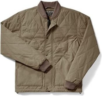 1. Filson Quilted Pack Jacket Tan Large