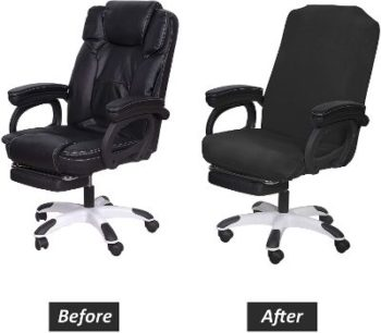 #1. SARAFLORA Office Chairs Covers