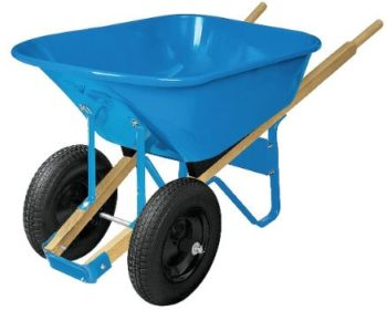 1. Westward Wheelbarrow, Steel, 6 cu. ft, 2 Pneumatic