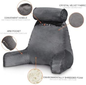 1. mittaGonG Shredded Foam Reading Pillow