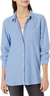 #10. Amazon Brand-Goodthreads Women's Long-Sleeve Tunic shirt