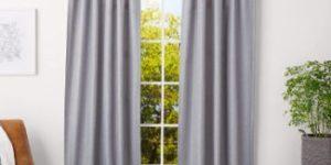 10. AmazonBasics 1-Inch Curtain Rod, Black