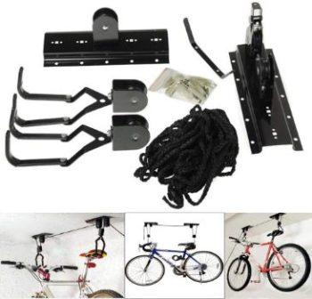 10. Bike Lift Hoist Heavy Duty Storage Garage Hanger