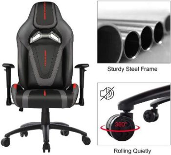 10. Furious Gaming Chair Racing Style Swivel Computer Chair