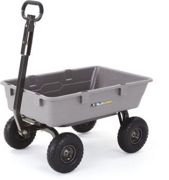 10. Gorilla Carts Poly Garden Dump Cart
