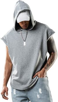 #10. Men's Workout Shirt Sleeveless Hoodie