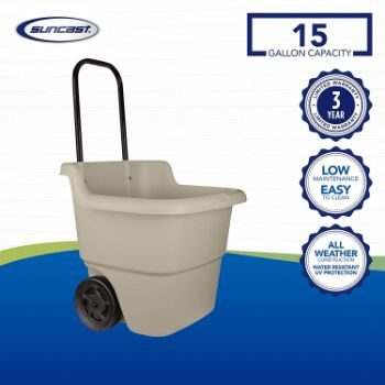 11. Suncast 2-Wheel Resin Multi-Purpose Cart with Handle