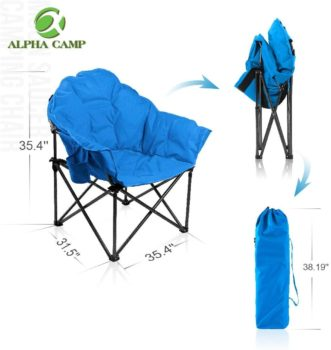 #2. ALPHA CAMP Oversized Camping Chairs