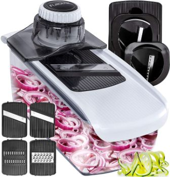2. Fullstar Mandoline Slicer, 6-in-1 Vegetable Spiralizer