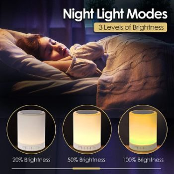 #2. SHAVA 7 Night Light Bluetooth Speaker