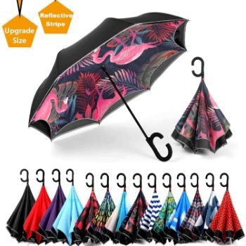 2. Siepasa Reverse Umbrella, Windproof, UV Protection