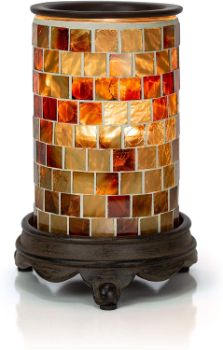#2. VP Home Mosaic Glass Candle Warmer Lamp