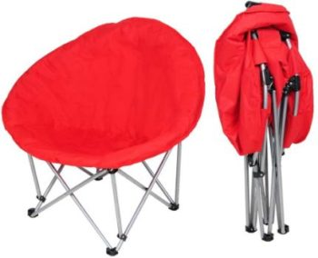 2. Yescom Portable Folding Saucer Padded Moon Chair