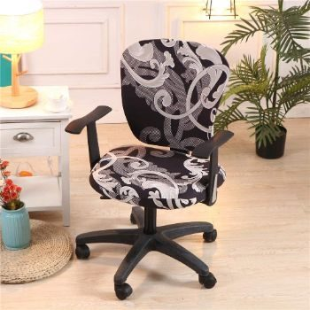 2. wonderfulwu Stretch Chair Covers (Royal Circle)