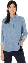 #3. Amazon Brand – Goodthreads Women's Popover Shirt