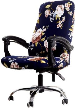 3. WOMACO Printed Office Chair Covers - Peony, Large