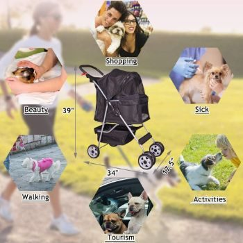 4. 4 Wheels Pet Stroller for Small-Medium Dog
