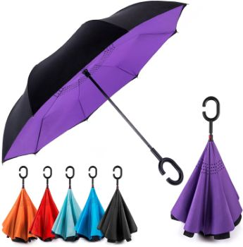 4. EEZ-Y Reverse Inverted Windproof Umbrella
