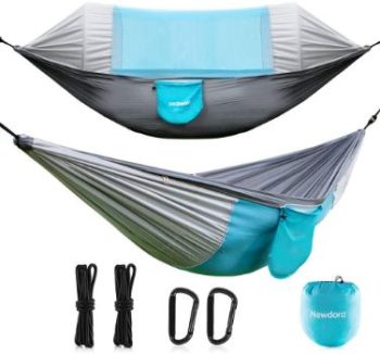 #4. Newdora Hammock with Mosquito Net