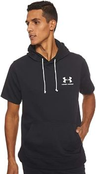 4. Under Armour Men's Sportstyle Terry Short Sleeve Hoodie