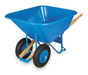 4. Wheelbarrow, Poly, 10 Cu. Ft, Pneumatic