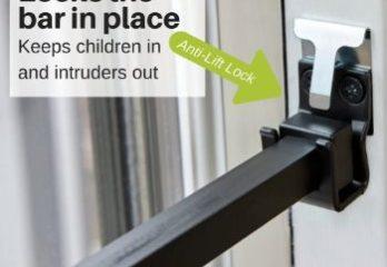 v#5. BK110W Patio Door Security Bar